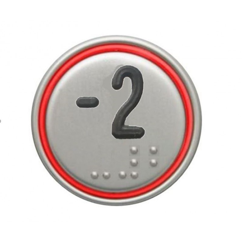 """""""-2"""" RED CONNECTOR 24V MACRO PUSHBUTTON"""