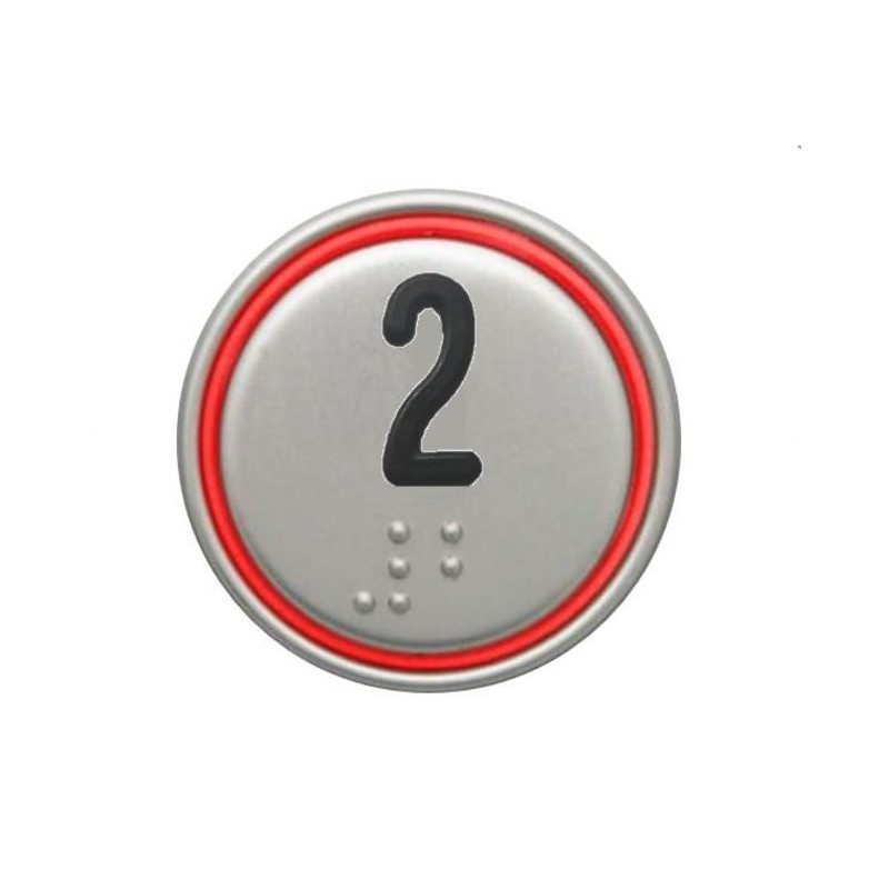 """""""2"""" RED CONNECTOR 24V MACRO PUSHBUTTON"""