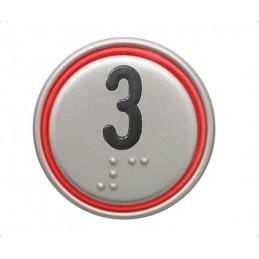 """BOUTON MACRO 24V CONNECTEUR ROUGE """"3"""""""