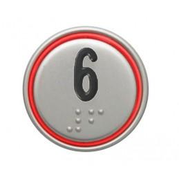 """BOUTON MACRO 24V CONNECTEUR ROUGE """"6"""""""