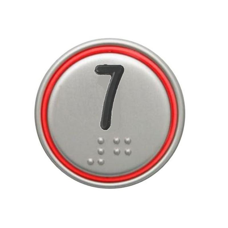 """PULSADOR MACRO 24V CONECTOR ROJO """"7"""""""