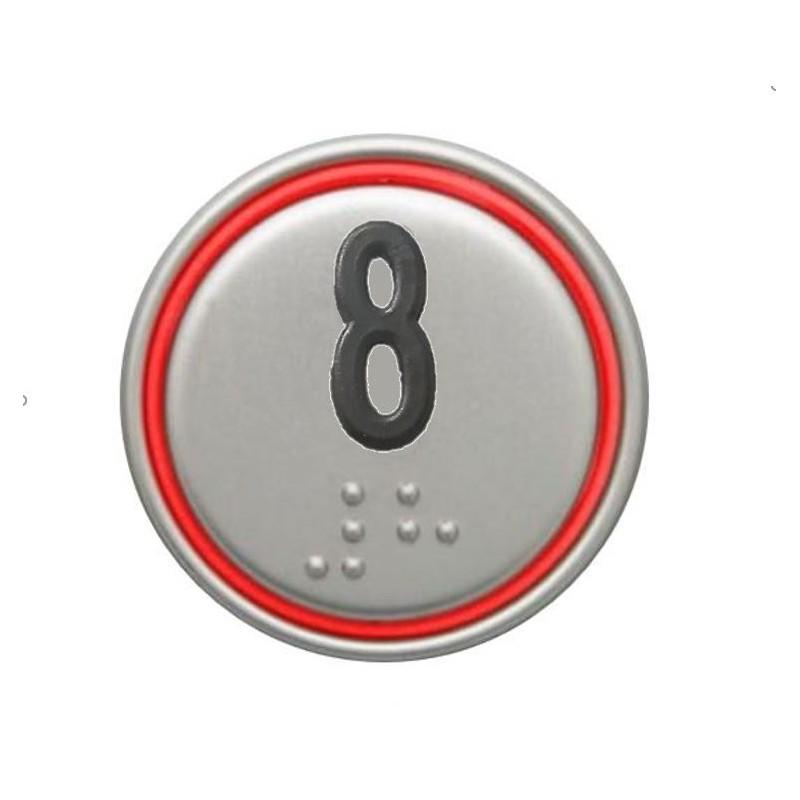 """PULSADOR MACRO 24V CONECTOR ROJO """"8"""""""